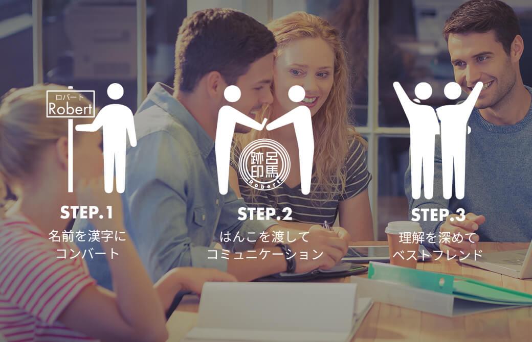 外国人に「自分だけの漢字の印鑑」を通して、日本文化を体験してもらおう! Sirusi